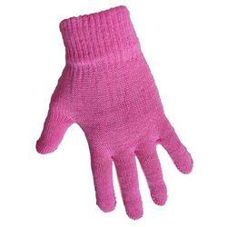 1 Kiddy rękawiczki 5-palczaste jednokolorowe różowe
