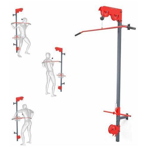 Sprzęt do gimnastyki, Wyciąg treningowy atlas górny+dolny+drążek do ćwiczeń ścienny KSSL020