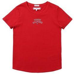 TOMMY HILFIGER Koszulka 'ESSENTIAL TOMMY NEW YORK S/S TEE' czerwony