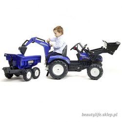 Falk Traktor na pedały New Holland z przyczepą oraz łyżką i koparką