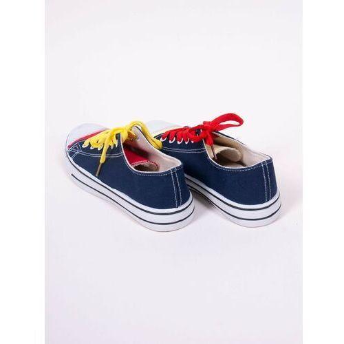 Damskie obuwie sportowe, Trampki klasyczne tenisówki z kolorowymi sznurówkami 38
