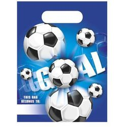 Prezentowe torebki urodzinowe Football Party - 6 szt.