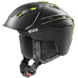 UVEX p2us IAS Kask narciarski, black mat yellow 51-55cm 2019 Kaski narciarskie
