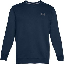 Under Armour Bluza bez kaptura RIVAL SOLID FITTED CREW Granatowa - Granatowy