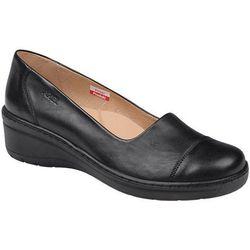 Półbuty AXEL Comfort 1601 Czarne na haluksy buty na koturnie