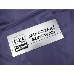 Szyldy z nazwami pomieszczeń i logotypem - 29x12cm - rogi prostokątne