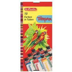 Farby tempera tempery 10 kolorów x 16ml, HERLITZ