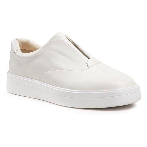 Damskie obuwie sportowe, Tenisówki CLARKS - Hero Step. 261495694 White Leather