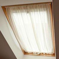 Zasłony, Dekoria Zasłonka na okno dachowe, prześwitująca, ecru, 110 × 126+3 cm grzywka, Romantica