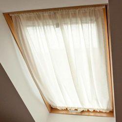 Dekoria Zasłonka na okno dachowe, prześwitująca, ecru, 110 × 126+3 cm grzywka, Romantica