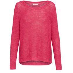 Sweter z okrągłym dekoltem, drobny splot