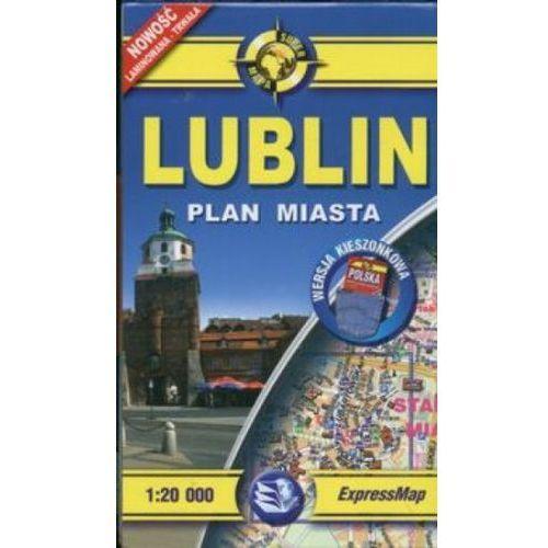 Mapy i atlasy turystyczne, Lublin 1:20 000 mapa kieszonkowa (opr. miękka)