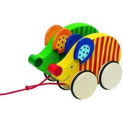 Drewniana zabawka do ciągnięcia na sznurku, wyścigi myszy