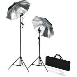 vidaXL Przenośny zestaw stroboskopów do studio ze statywami i parasolkami Darmowa wysyłka i zwroty
