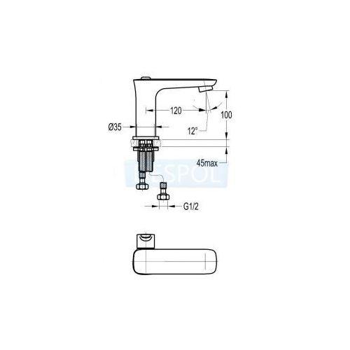 Baterie do umywalek, Bateria Omnires Hudson HS4110