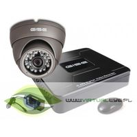 Zestawy monitoringowe, Zestaw startowy AHD, 1x Kamera HD/IR20, Rejestrator 4ch