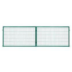Brama panelowa Polbram Steel Group 2D 400 x 120 cm oczko 5 x 20 cm ocynk zielony