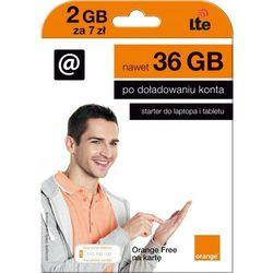 Starter ORANGE Orange Free na Kartę 2GB za 7 PLN
