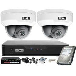 Monitoring wideo i dźwięk firmy sklepu domu H.265 BCS Point 2x Kamera BCS-P-212RWSA + Akcesoria