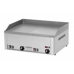Płyta grillowa 1/2 gładka 1/2 ryflowana elektryczna | 650x480mm | 6000W | 660x530x(H)220mm