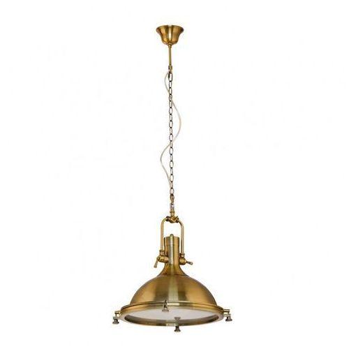 Lampy sufitowe, Industrialna LAMPA wisząca MADISON MA04099CB-001 Italux przemysłowa OPRAWA metalowa loft brąz antyczny