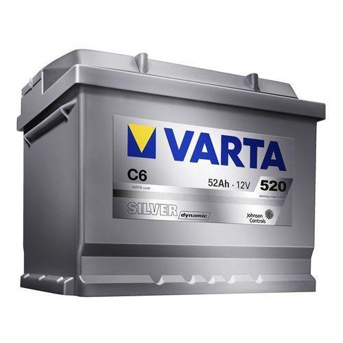 Akumulatory samochodowe, Akumulator VARTA SILVER DYNAMIC C6 52AH P+ 520A 12V