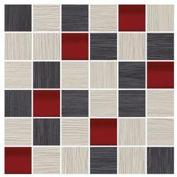 Mozaika Deco Cersanit 29,7 x 29,7 cm szaro-czerwona