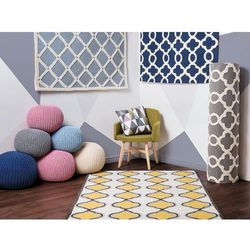Dywan ciemnoniebieski - 160x230 cm - nowoczesny - handmade - ZILE