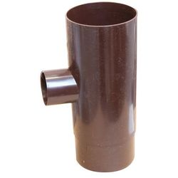 Trójnik rynnowy Marley 105/53 mm brązowy
