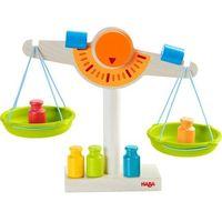 Drobne AGD dla dzieci, Drewniana waga sklepowa Haba HB302639