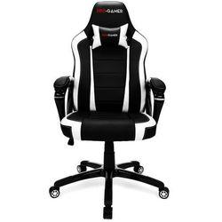 Fotel gamingowy ATILLA biały PRO-GAMER dla graczy PODKŁADKA PRO-GAMER 80x45cm GRATIS