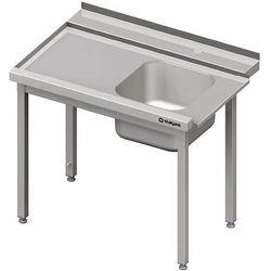Stół załadowczy lewy bez półki do zmywarki kapturowej Silanos 1100x740x880 mm | STALGAST, 982397110