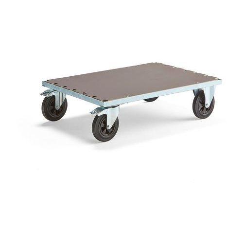 Wózki widłowe i paletowe, Wózek platformowy, z hamulcami, 700x1000mm