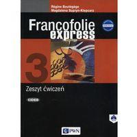 Książki do nauki języka, Francofolie express 3 Zeszyt ćwiczeń - Magdalena Supryn-Klepcarz, Boutegege Regine (opr. miękka)