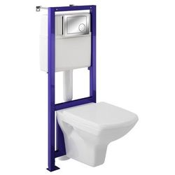 Zestaw podtynkowy WC Cersanit Silva z deską wolnoopadającą