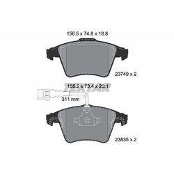 Zestaw klocków hamulcowych, hamulce tarczowe TEXTAR 2374901