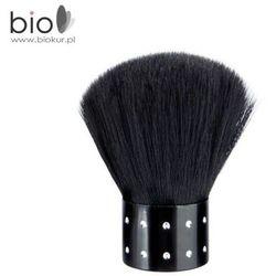Pędzelek do pyłu Nails Company - czarny z czarnym włosiem