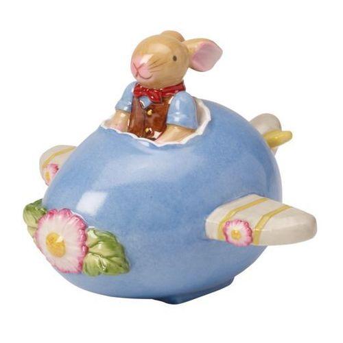 Ozdoby świąteczne, Villeroy & Boch - Bunny Family Figurka porcelanowa zajączek w samolocie
