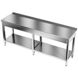 Stół roboczy nierdzewny z półką
