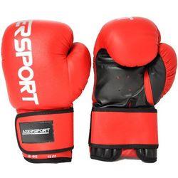 Rękawice bokserskie AXER SPORT A1327 Czerwono-Czarny (12 oz) + Zamów z DOSTAWĄ W PONIEDZIAŁEK!
