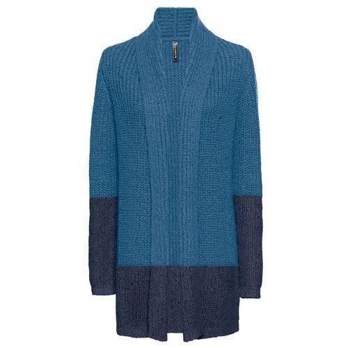 Swetry i kardigany, Kardigan dzianinowy bonprix czarny