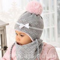 Zestawy dodatków dla dzieci, AJS 38-401 Czapka+chustka komplet