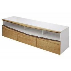 INVICTA szafka pod telewizor WILD OAK - 180 biały dąb, drewno naturalne, płyta MDF