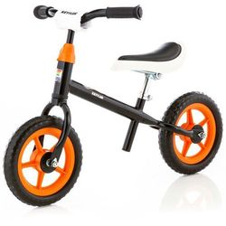 """Kettler rowerek biegowy Speedy 10"""" Rocket czarny - Czarno-biało-pomarańczowy   Pomarańczowy   Czerwony"""