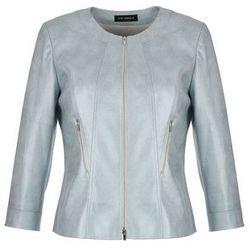 Stalowa kurtka z ekoskóry (Kolor: srebrny, Rozmiar: 38)