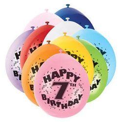 Balony pastelowe z nadrukiem siódemka