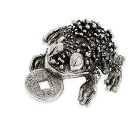 ŻABA Z MONETĄ FIGURKA TALIZMAN amulety talizmany symbole chińskie orient