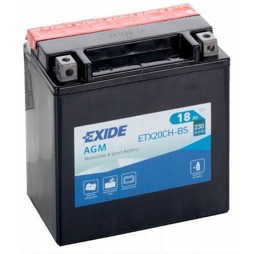 Akumulatory do motocykli, Akumulator motocyklowy EXIDE ETX20CH-BS / YTX20CH-BS 12V 18Ah 230A EN L+