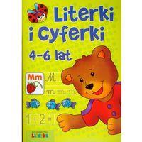 Książki dla dzieci, Literki i cyferki 4-6 lat (opr. miękka)