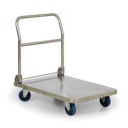 Składany wózek platformowy ze stali nierdzewnej, 900x60 mm, nośność 400 kg